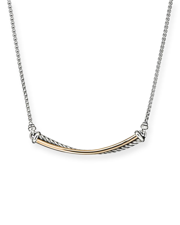Crossover 18k Gold Bar Necklace