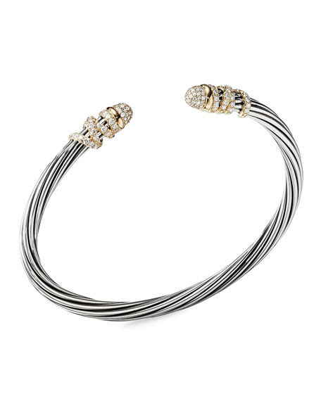 David Yurman DY Helena Diamond Bangle Bracelet