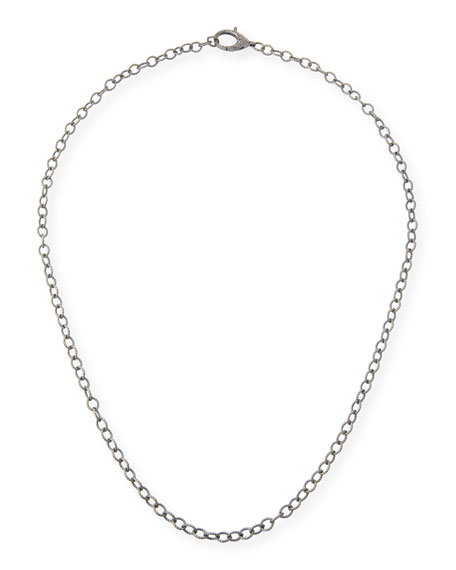 Diamond Lock Chain Necklace, 30""