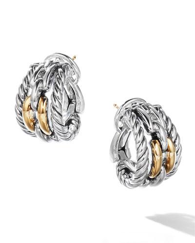 Wellesley Link Hoop Earrings w/ 18k Gold