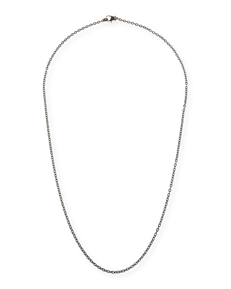 Margo Morrison Rhodium-Plated Sterling Silver Chain Necklace with Spinel Clasp, 24