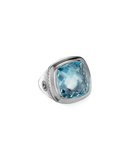 David Yurman Albion Blue Topaz Statement Ring