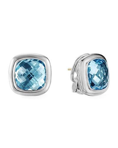 Albion Blue Topaz Stud Earrings