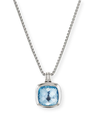 Albion Silver Pendant Enhancer with Sky Blue Topaz
