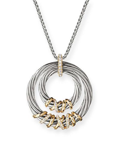 Helena Diamond & Hoop Pendant Necklace