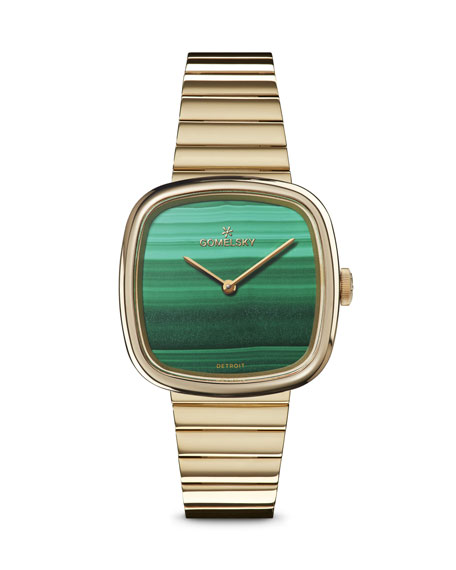 Gomelsky 32mm Eppie Malachite Bracelet Watch