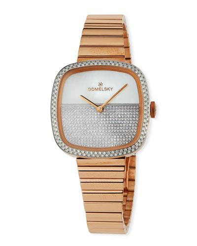 32mm Eppie Diamond Bracelet Watch  Rose Golden