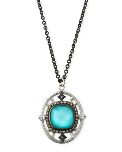 New World Doublet Pendant Necklace