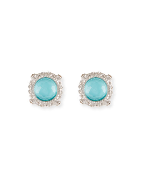 Armenta New World Round Doublet Stud Earrings