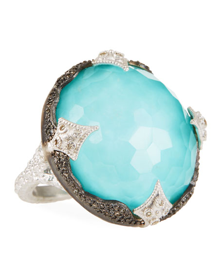 Armenta New World Scalloped Doublet Ring