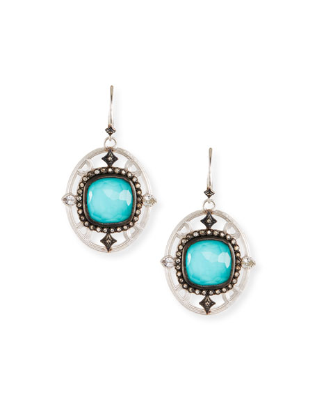 Armenta New World Doublet Drop Earrings w/ Crivelli