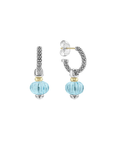 18k Caviar™ Forever Melon Bead Hoop Earrings