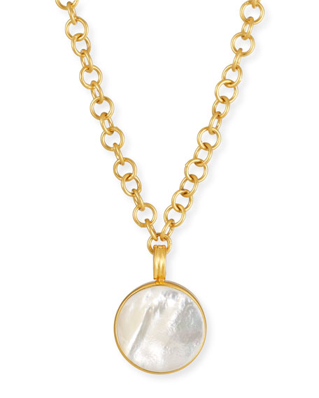 Round Mother-of-Pearl Pendant