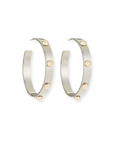 Stack Studded Hoop Earrings