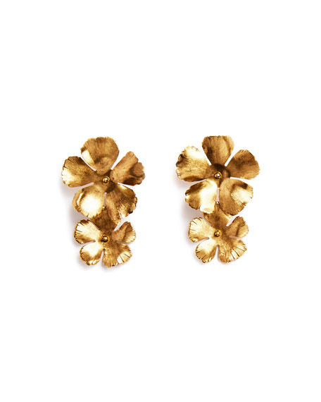 Chloe Statement Flower Earrings