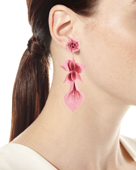 Lydia Flower Drop Earrings