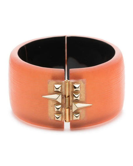 Studded Lucite® Hinge Bracelet