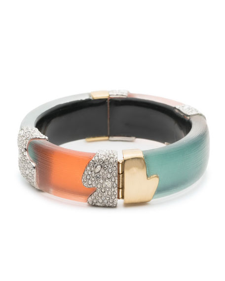 Crystal Encrusted Colorblock Bracelet