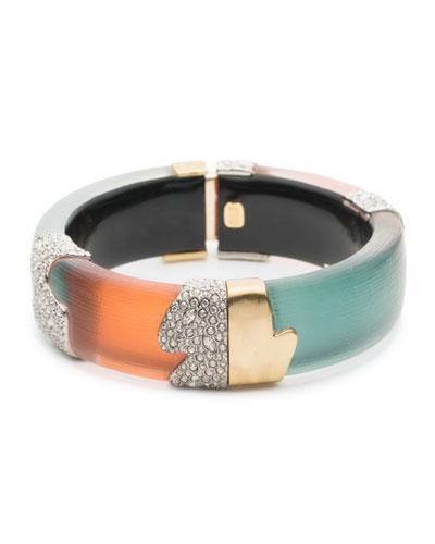 Crystal Encrusted Colorblock Bracelet