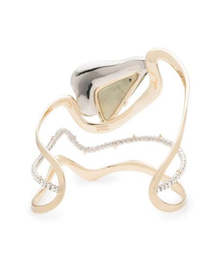 Crystal Encrusted Freeform Roxbury Cuff Bracelet