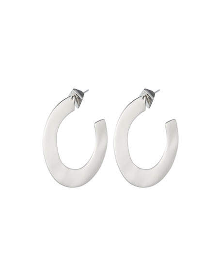 Alexis Bittar Liquid Metal Orbit Hoop Earrings, Gray