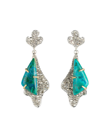 Alexis Bittar Crystal Encrusted Roxbury Drop Earrings