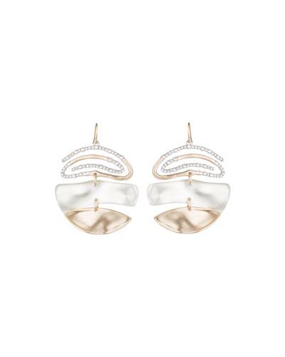 Crystal Encrusted Spiral Mobile Earrings
