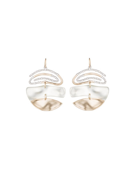 Alexis Bittar Crystal Encrusted Spiral Mobile Earrings