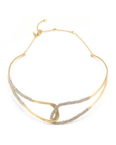 Crystal Encrusted Freeform Collar Necklace