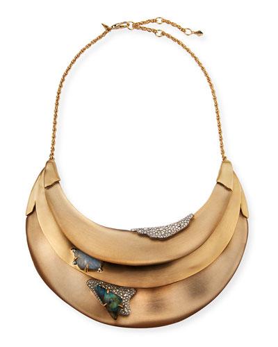 Crystal Encrusted Roxbury Bib Necklace