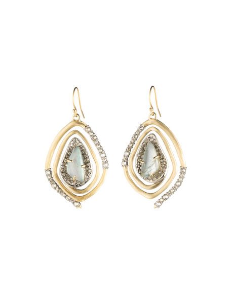 Alexis Bittar Crystal Encrusted Spiral Drop Earrings