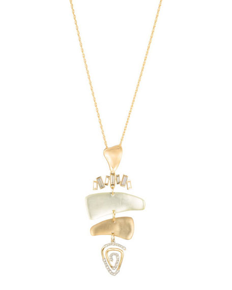 Alexis Bittar Dancing Baguette Spiral Mobile Necklace