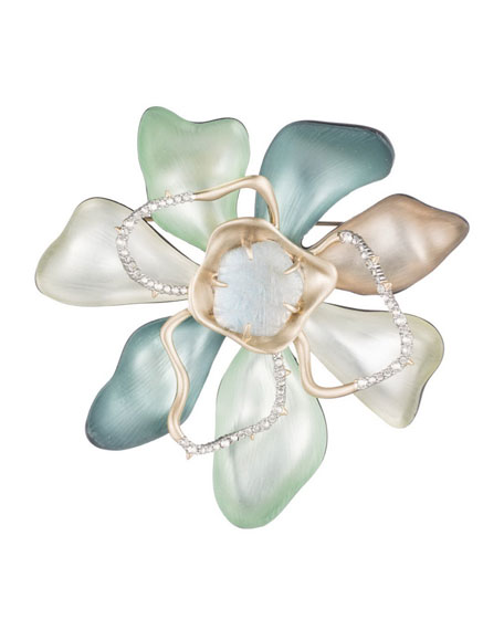 Alexis Bittar Abstract Colorblock Flower Pin