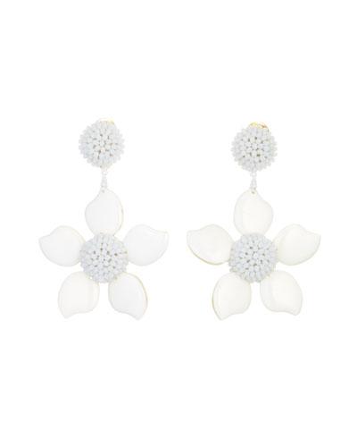 Bold Resin Flower Clip-On Earrings