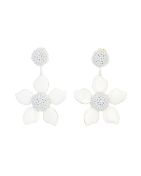 Oscar de la Renta Bold Resin Flower Clip-On