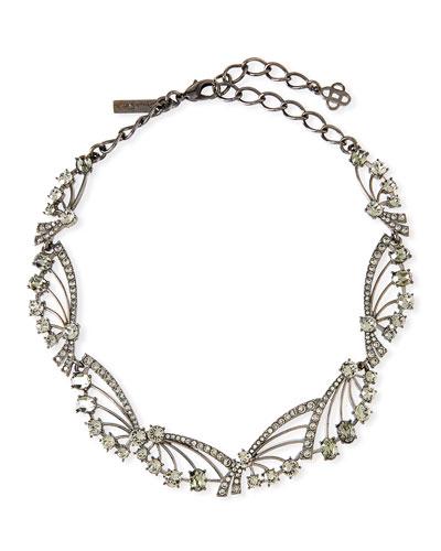Crystal Fan Necklace