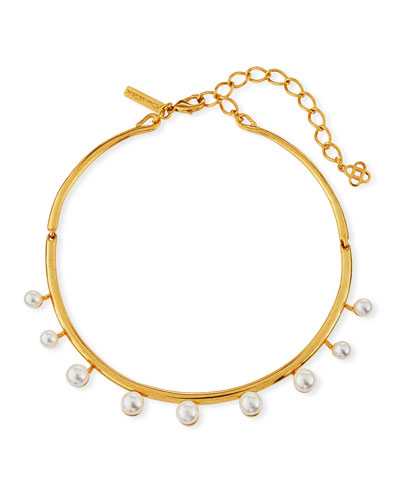 Floating Pearly Crystal Choker Necklace