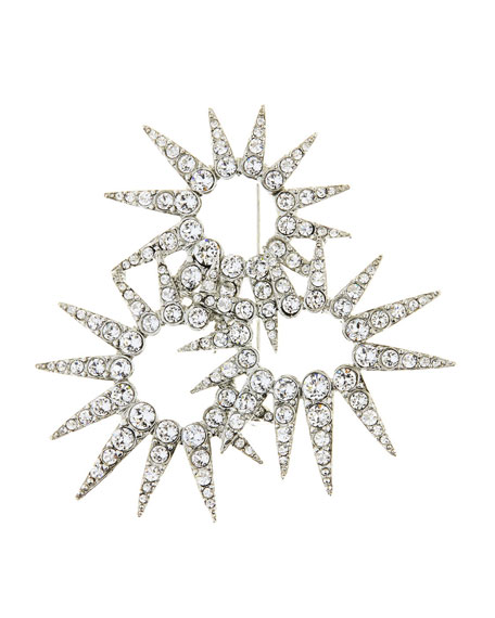 Sea Urchin Crystal Brooch
