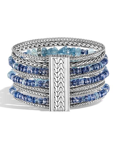 John Hardy Classic Chain Multi-Row Bead Bracelet, Size