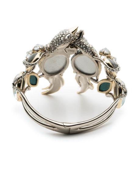 Lovebirds Crystal Encrusted Hinge Bracelet