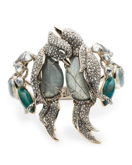 Alexis Bittar Lovebirds Crystal Encrusted Hinge Bracelet