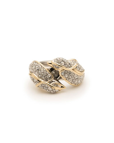 Secret Lovebirds Crystal Encrusted Ring