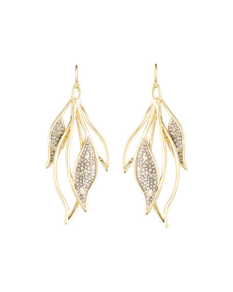Alexis Bittar Crystal Encrusted Feather Wire Earring ZItOor