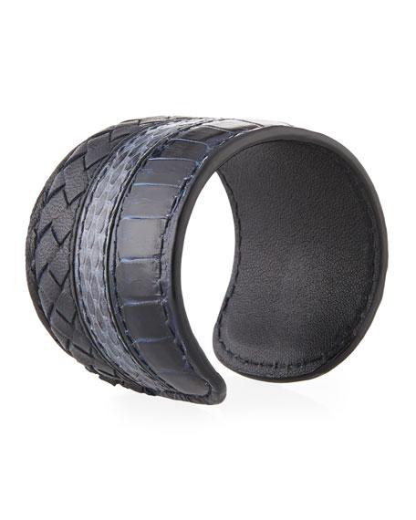 Croc Woven Cuff Bracelet