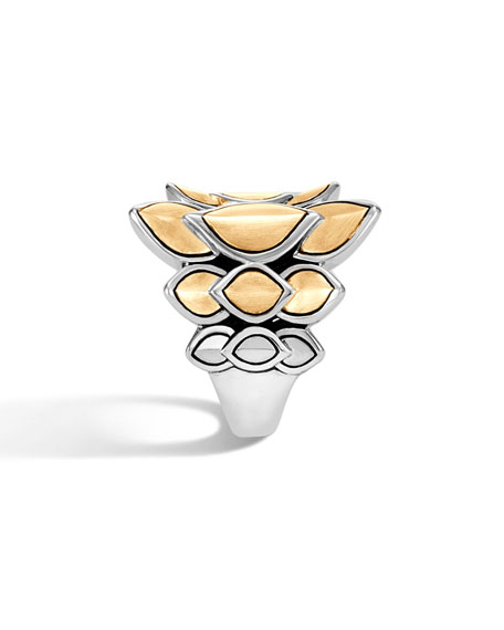 Legends Naga 21mm Saddle Ring w/ 18k Gold, Size 6