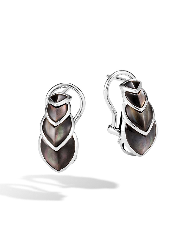 bc23543cf John Hardy Legends Naga Mother-of-Pearl Huggie Hoop Earrings ...