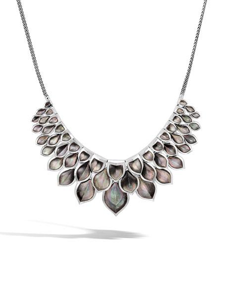 John Hardy Legends Naga Mother-of-Pearl Layered Bib Necklace