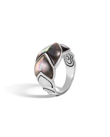 John Hardy Legends Naga 15mm Mother-of-Pearl Scale Ring,