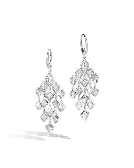 John Hardy Legends Naga Diamond Chandelier Earrings