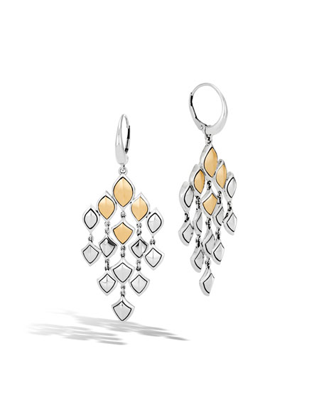 John Hardy Legends Naga 18k Gold Chandelier Earrings